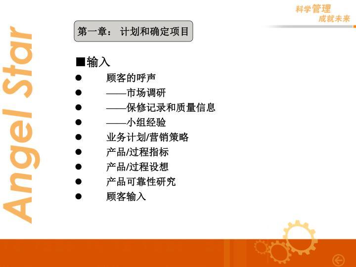 第一章: 计划和确定项目