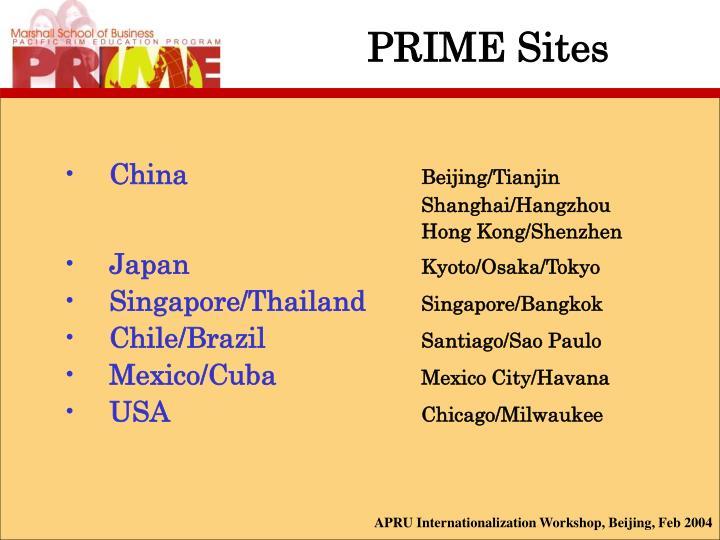 PRIME Sites