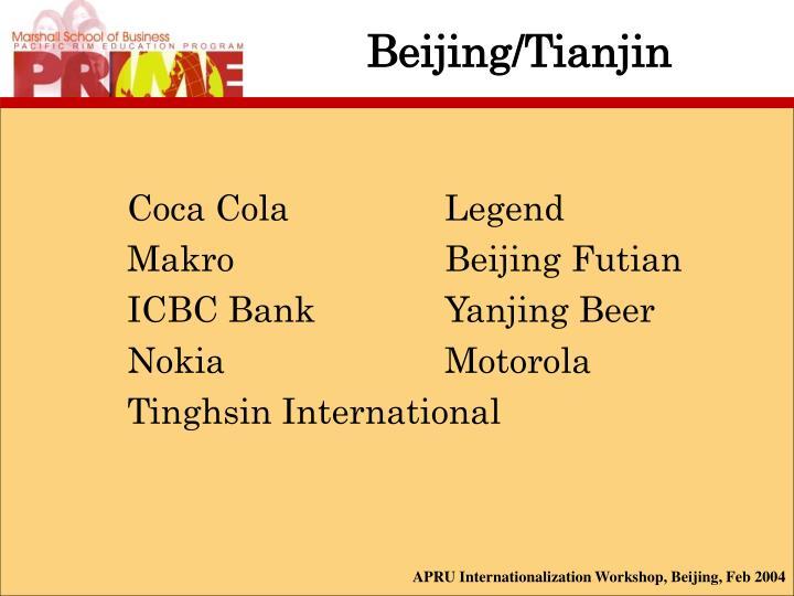 Beijing/Tianjin