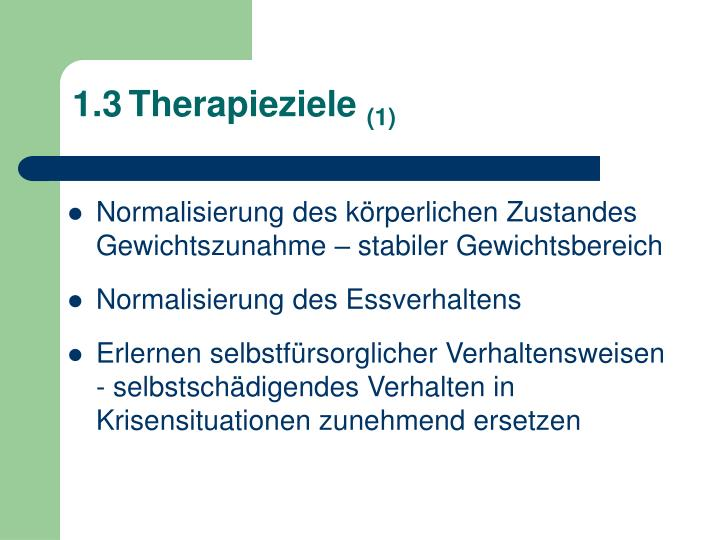 1.3	Therapieziele