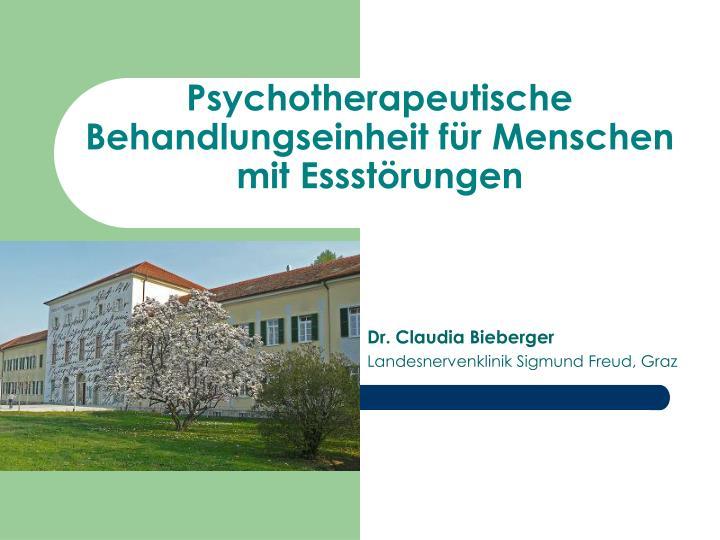 Psychotherapeutische Behandlungseinheit für Menschen mit Essstörungen