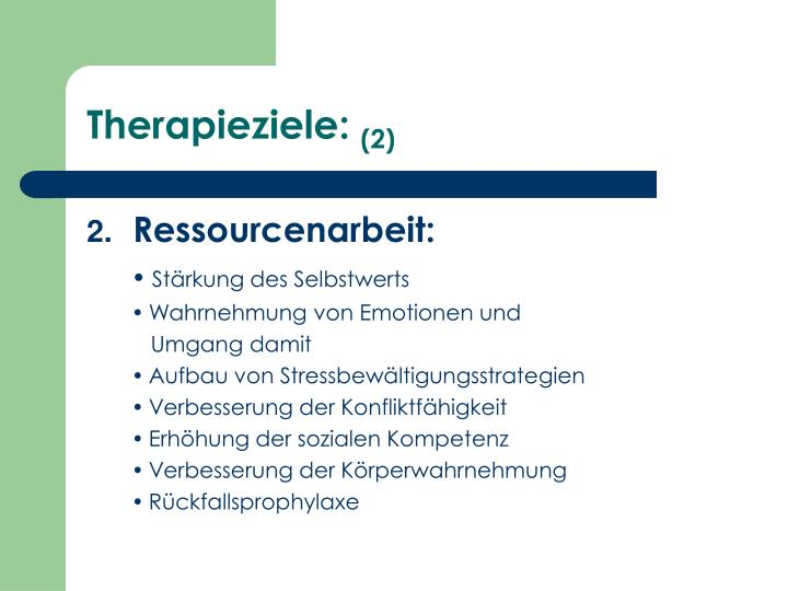 Therapieziele: