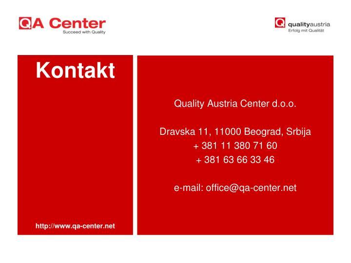 Quality Austria Center d.o.o.