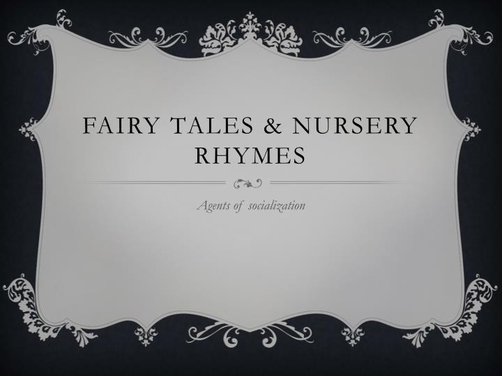 Fairy tales nursery rhymes