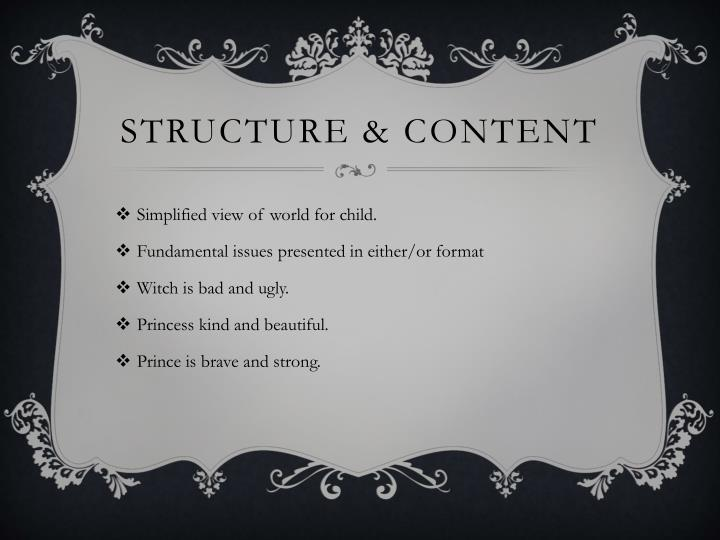 Structure & content