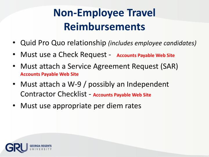 Non-Employee Travel Reimbursements