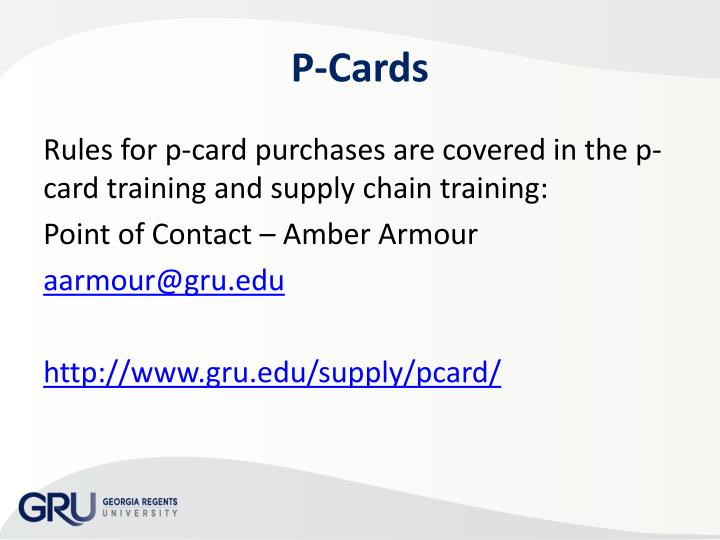 P-Cards