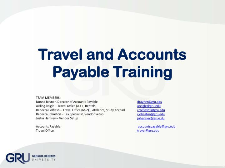 Travel and accounts payable training