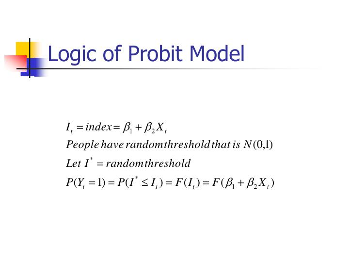Logic of Probit Model
