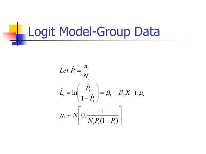 Logit Model-Group Data