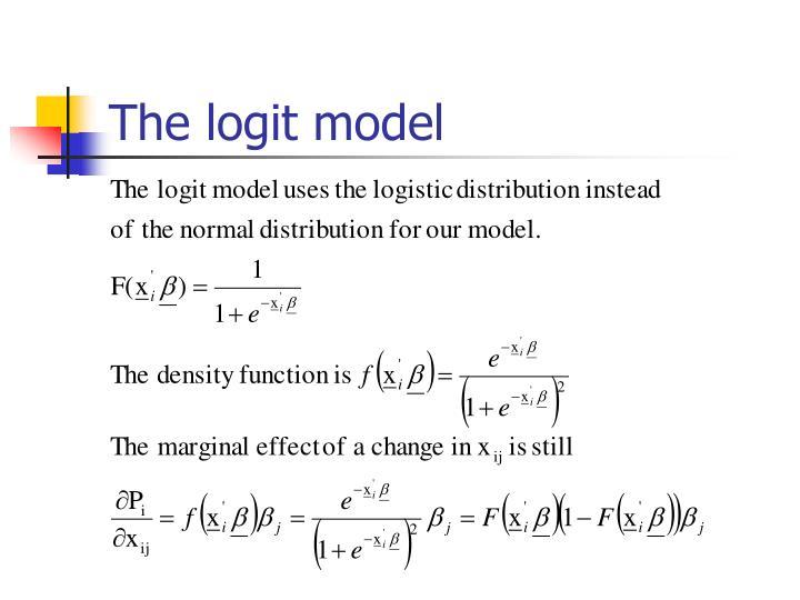 The logit model