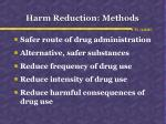 harm reduction methods