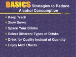 strategies to reduce alcohol consumption