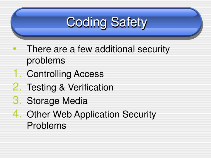 Coding Safety