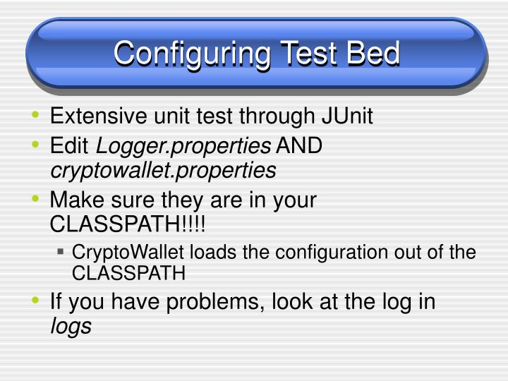 Configuring Test Bed