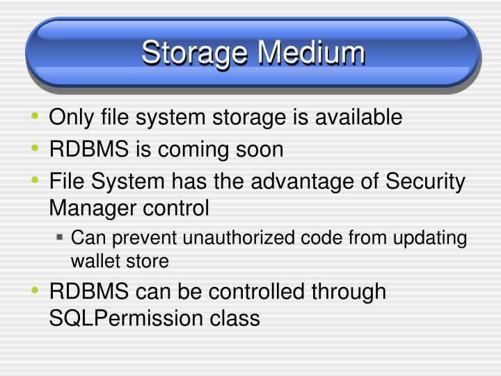 Storage Medium