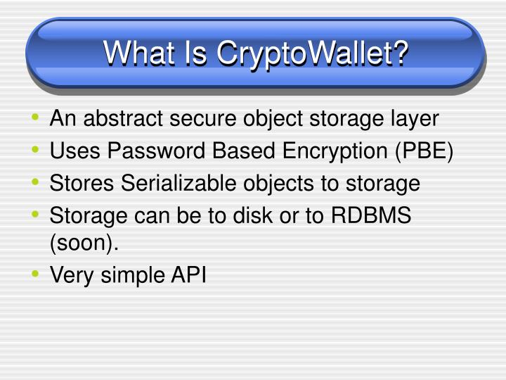 What Is CryptoWallet?