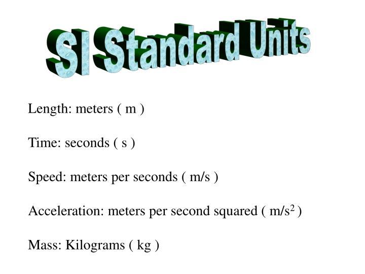 SI Standard Units