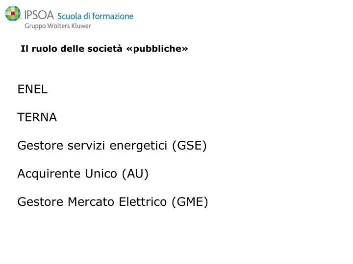 Il ruolo delle società «pubbliche»