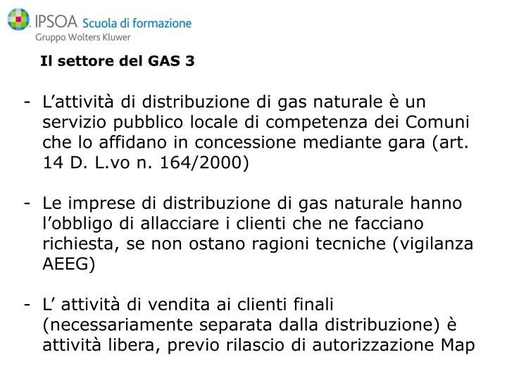 Il settore del GAS 3