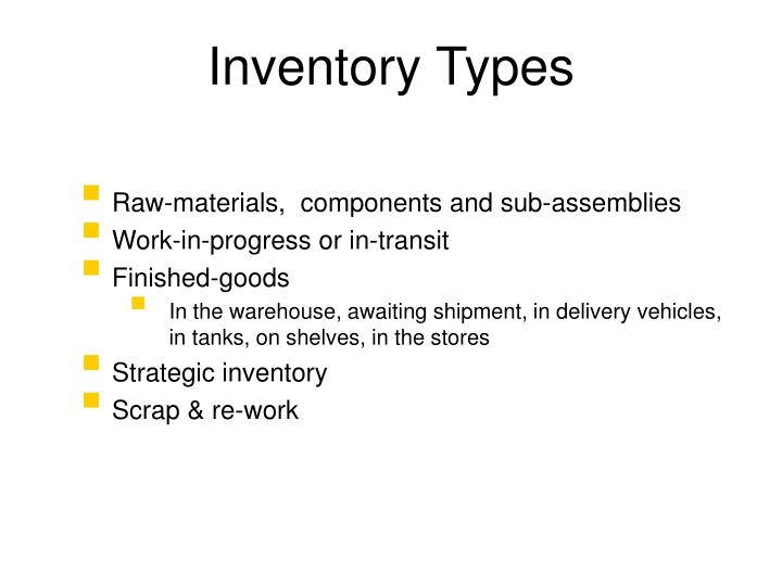 Inventory Types