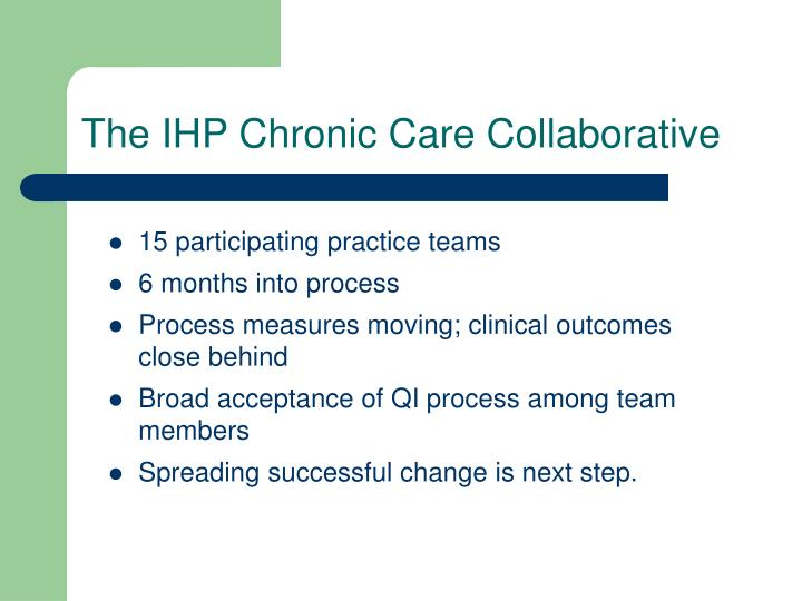 The IHP Chronic Care Collaborative