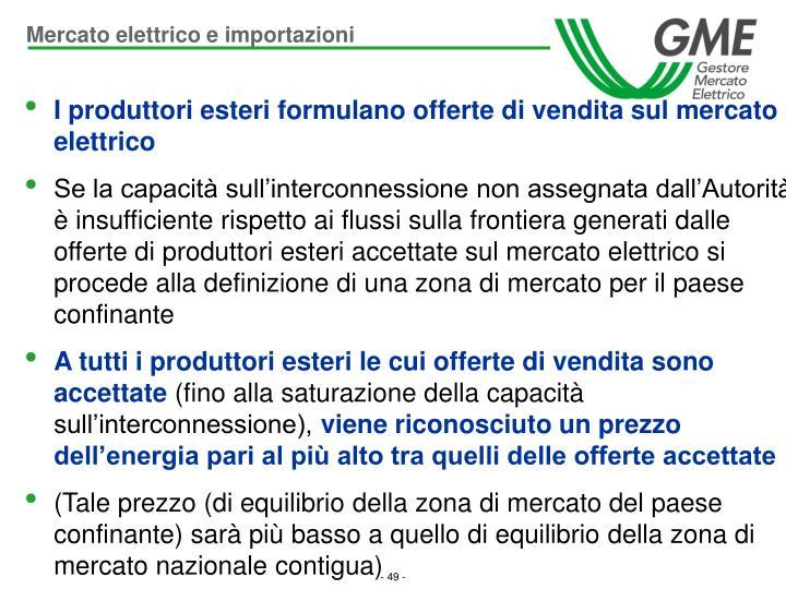 Mercato elettrico e importazioni