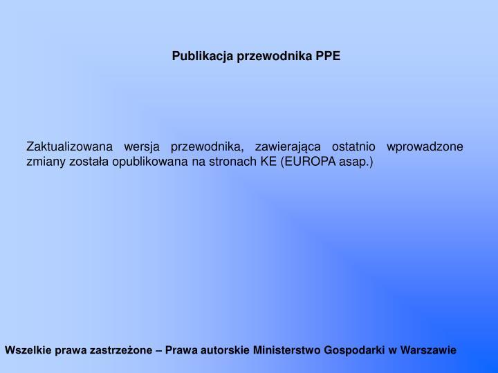 Publikacja przewodnika PPE