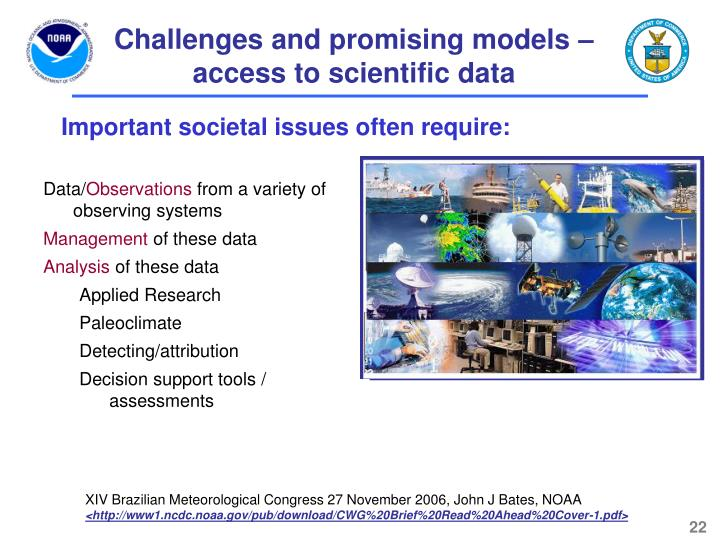 Challenges and promising models – access to scientific data