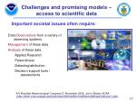 challenges and promising models access to scientific data
