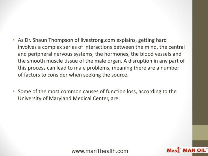 As Dr. Shaun Thompson of livestrong.com explains, getting hard involves a complex series of interact...