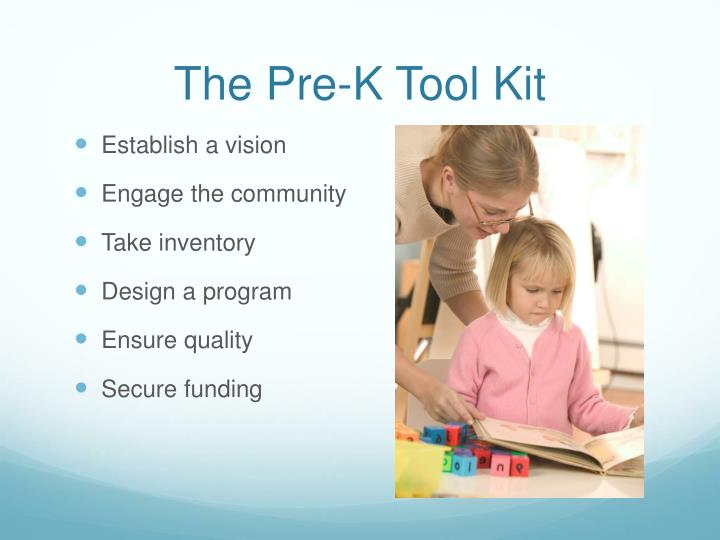 The Pre-K Tool Kit