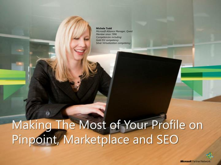 Making The Most of Your Profile on Pinpoint, Marketplace and SEO