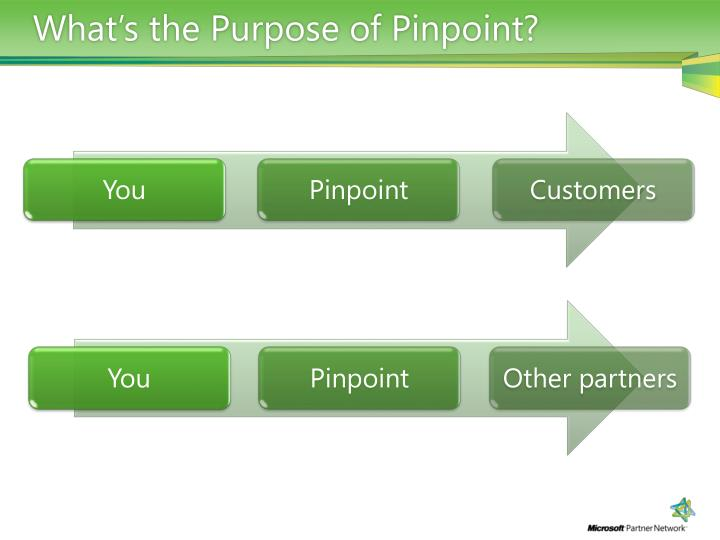 What's the Purpose of Pinpoint?