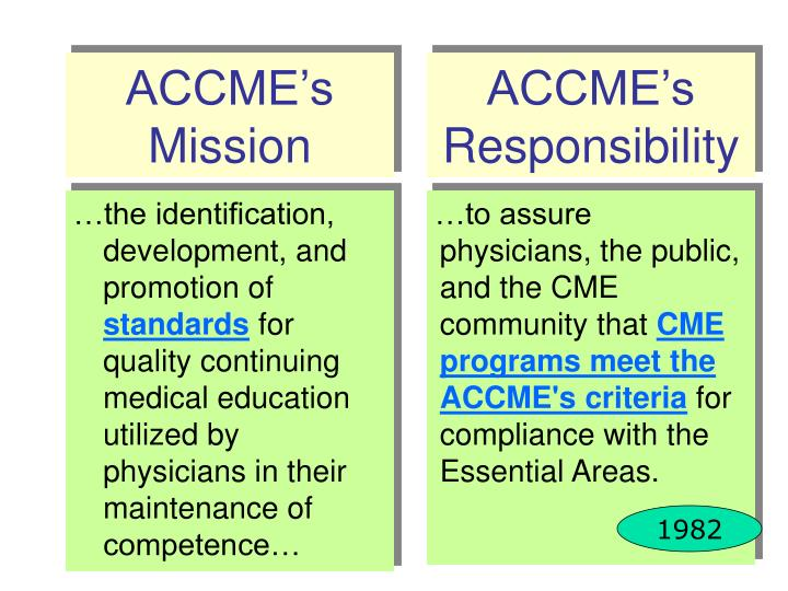 Accme s mission