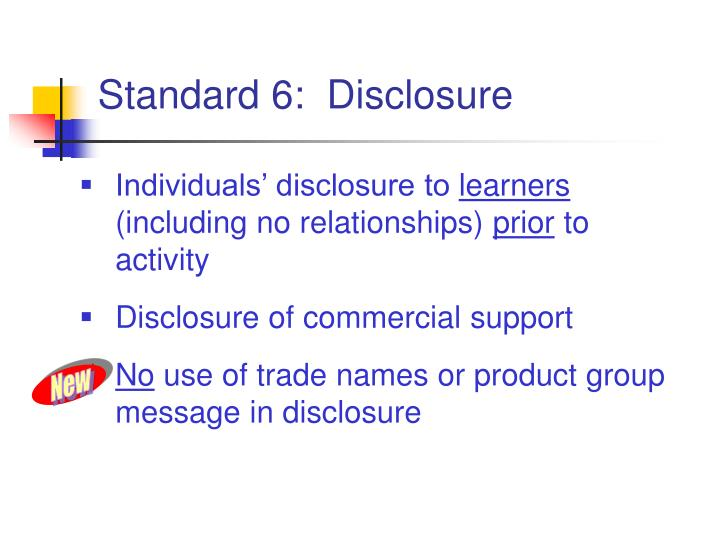 Individuals' disclosure to
