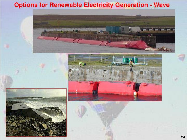 Options for Renewable Electricity Generation - Wave