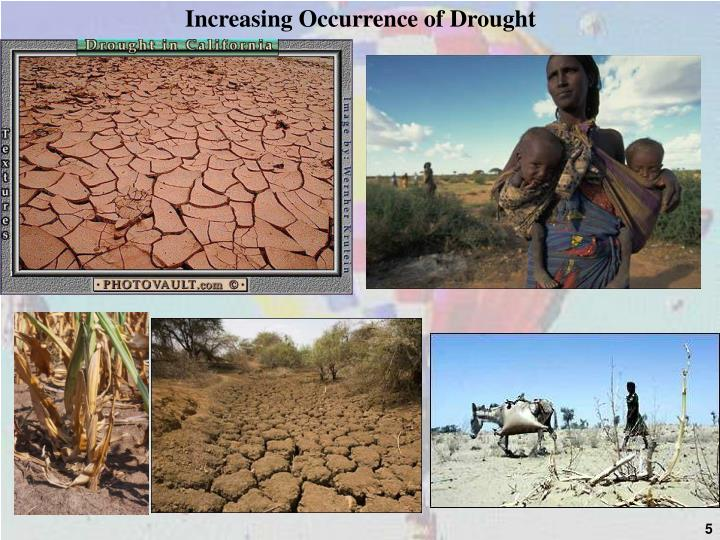 Increasing Occurrence of Drought