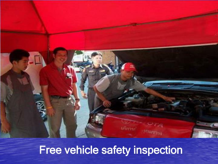 Free vehicle safety inspection