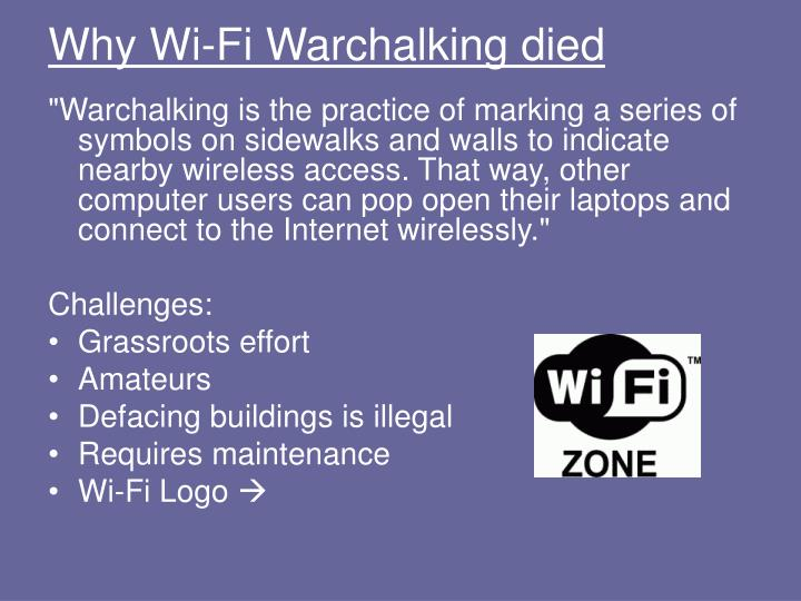 Why Wi-Fi