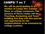 camps 7 on 7