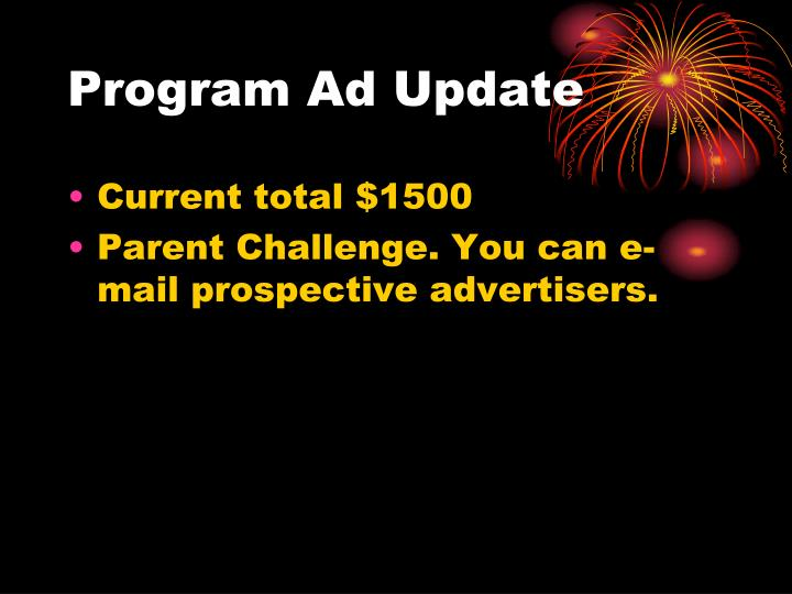 Program Ad Update