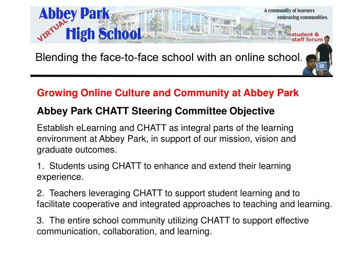 Growing Online Culture and Community at Abbey Park