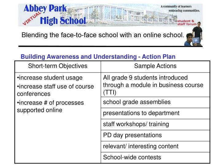 Building Awareness and Understanding - Action Plan