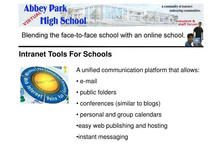 Intranet Tools For Schools
