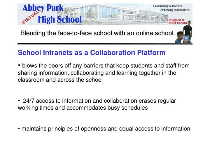 School Intranets as a Collaboration Platform