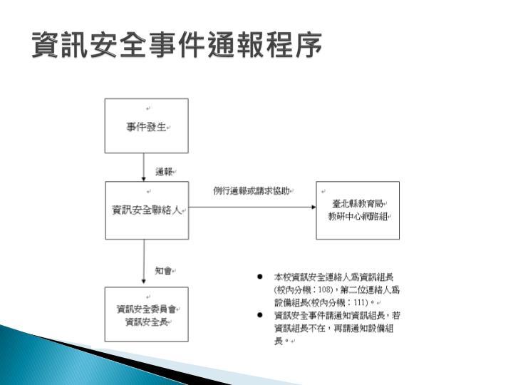 資訊安全事件通報程序