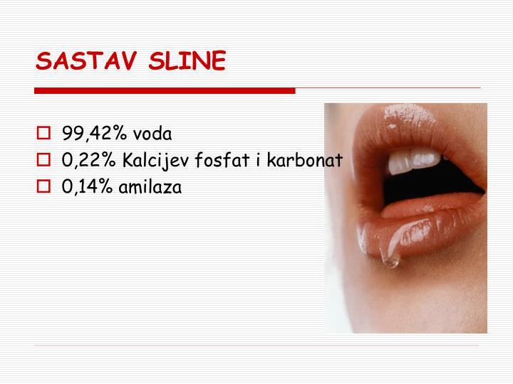 SASTAV SLINE