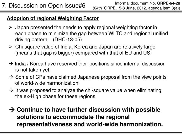 7. Discussion on Open issue#6