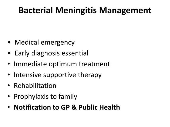 Bacterial Meningitis Management